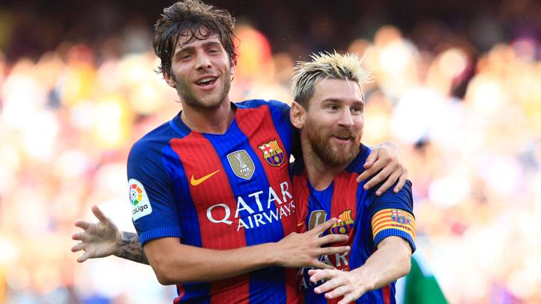 'I can't imagine Barcelona without Messi' Sergi Roberto