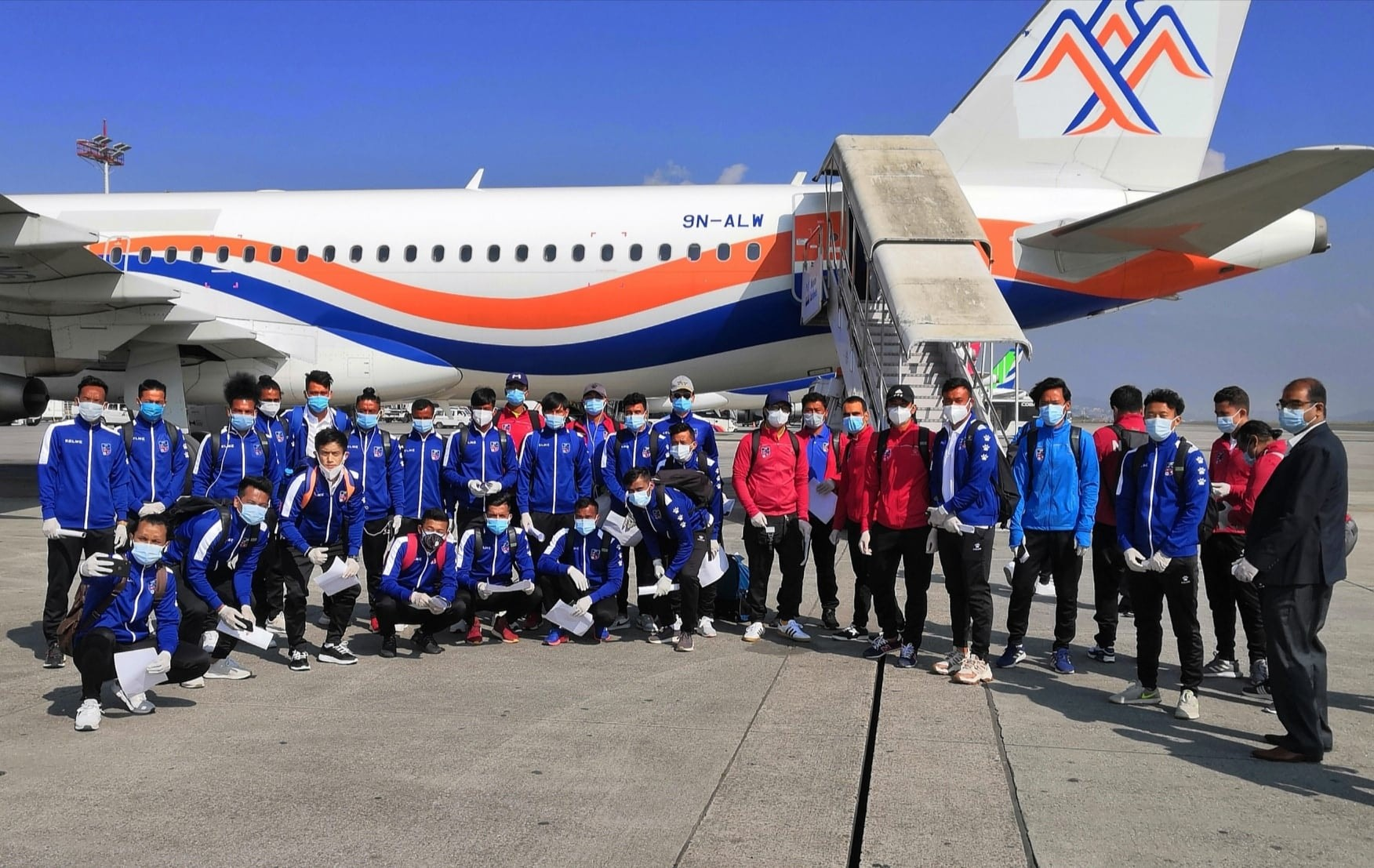 Nepal national team left for Dhaka to play friendly against Bangladesh